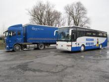 Autobus Van Hool voor het rijbewijs autobus