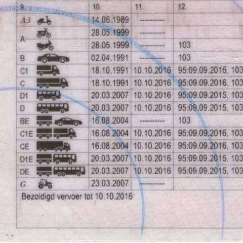 code 95 op het rijbewijs cat. C & D